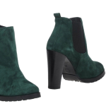 teal suede booties at yoox