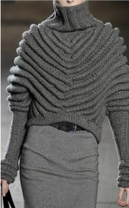 cropped sweater with zabralo neckline